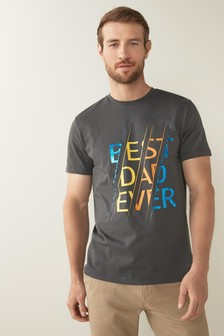 Charcoal Father's Day Best Dad T-Shirt