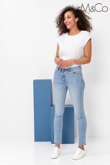 M&Co Blue Supersoft Slim Jeans