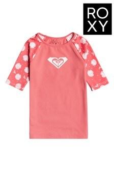 Roxy Pink ROXY Short Sleeve Rashguard