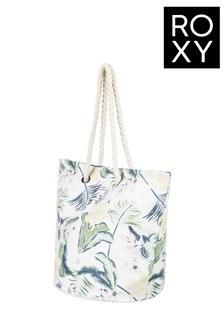 Roxy White Sunseeker Beach Bag