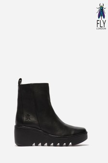 Fly London Bale Black Ankle Boots