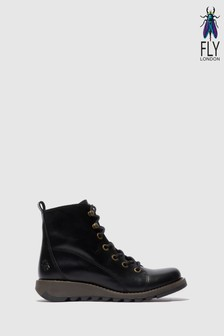 Fly London Sore Black Ankle Boots