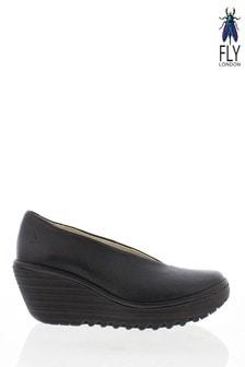 Fly London Yaz Black Shoes