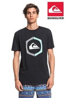 Quiksilver Black Sure Things Screen T-Shirt