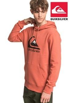 Quiksilver Pink Comp Logo Screen Hoodie