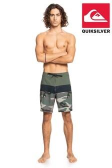 "Quiksilver Brown Surfsilk Panel 18"" Board Shorts"