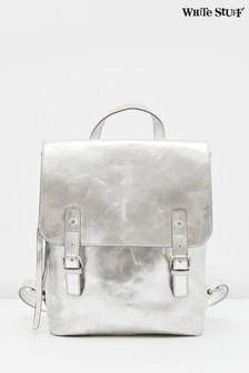 White Stuff Metallic Harley Leather Backpack