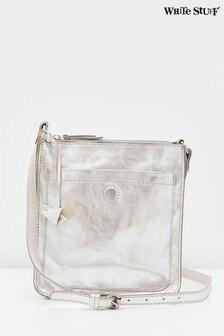 White Stuff Metallic Craft Leather Cross-Body Bag