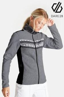 Dare 2B Grey Overawe Faux Fur Collar Sweater