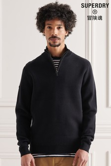 Superdry Cotton Knit Henley Jumper