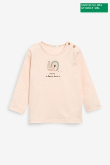 Benetton Pink Snail Character Top