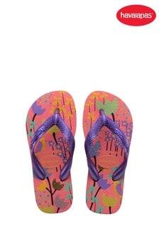 Havaianas Pink Kids Flores Flip Flops
