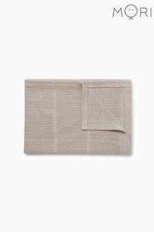 Mori Brown Cellular Blanket