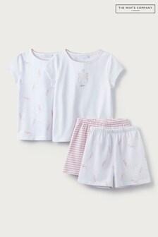 The White Company Seahorse & Stripe Shortie Pyjamas 2 Pack