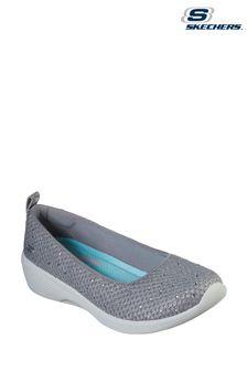 Skechers Grey Arya Sweet Glitz Sport Shoes