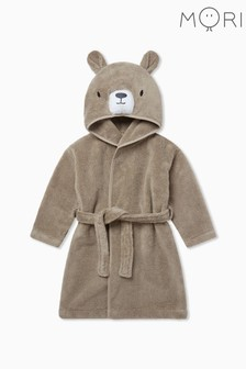 Mori Brown Bear Bath Robe