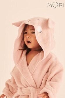Mori Pink Bunny Bath Robe