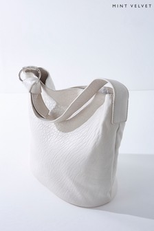 Mint Velvet Cream Daisy Off-White Shoulder Bag