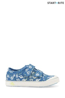 Start-Rite Cosmic Blue Space Canvas Shoes