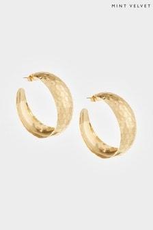 Mint Velvet Gold Tone Wide Hoop Earrings