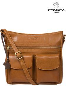 Conkca Bon Leather Cross Body Bag