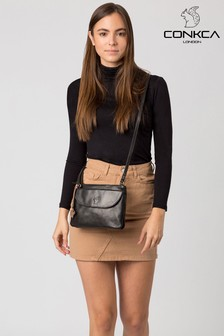 Conkca Tillie Leather Cross Body Bag