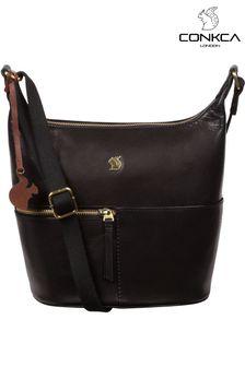Conkca Kristin Leather Shoulder Bag