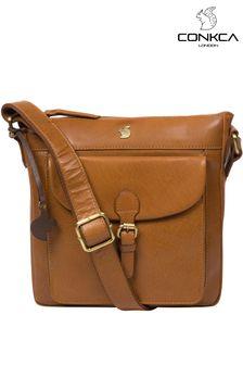 Conkca Josephine Leather Shoulder Bag