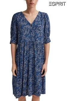 Esprit Womens Print Midi Dress