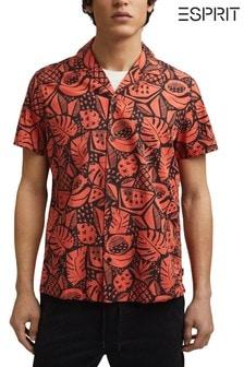 Esprit Mens Print Short Sleeve Shirt