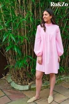 Ro&Zo Pink Pintuck Detail Dress