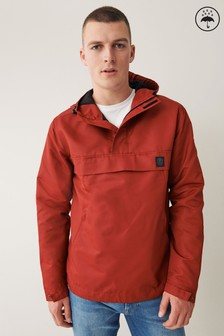 Red Shower Resistant Overhead Jacket