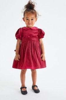 Red Velvet And Taffeta Prom Dress (3mths-8yrs)