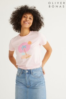 Oliver Bonas Paradise Pink T-Shirt