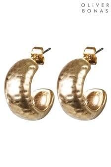 Oliver Bonas Atlantis Chunky Hammered Hoop Earrings