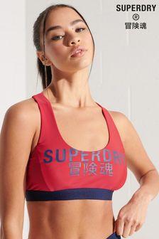 Superdry Logo Crop Bikini Top