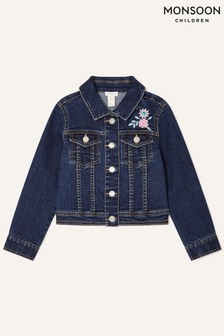 Monsoon Blue Butterfly Denim Jacket