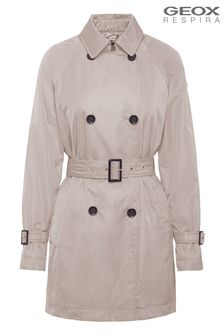 Geox Womens Airell Marble Beige Jacket