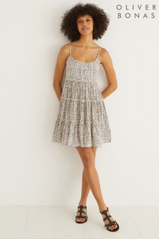 Oliver Bonas Animal Spot Mini Sun Dress