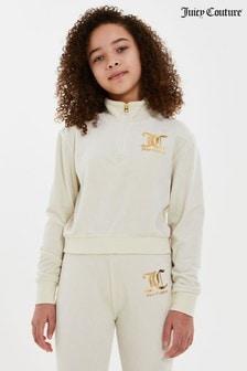 Juicy Couture Velour Quarter Zip Top