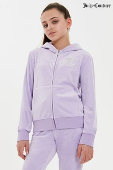 Juicy Couture Velour Zip Through Hoodie