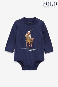 Ralph Lauren Navy Big Pony Bodysuit