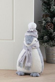 Christmas Singing Penguin Doorstop