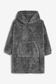 Grey Soft Touch Fleece Poncho (3-16yrs)