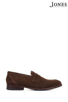 Jones Bootmaker Brown James Men's Leather Penny Loafers