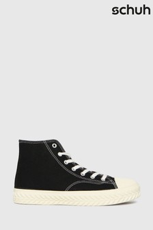 Schuh Black Mckenna High Top Lace Up Trainers