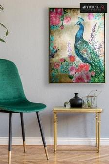 Arthouse Floral Peacock Canvas