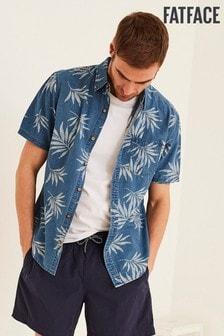 FatFace Wells Palm Print Shirt