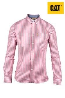 CAT Red M Street Long Sleeve Shirt