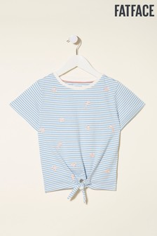 FatFace Starfish Embroidered Knot Front T-Shirt